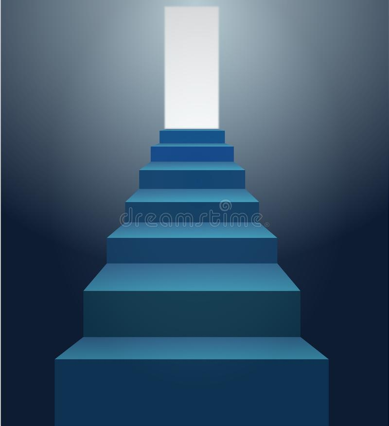 Free Blue Stairs Royalty Free Stock Images - 24429639