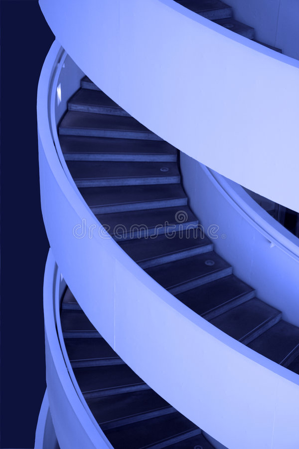 Free Blue Stairs Royalty Free Stock Photo - 3852305