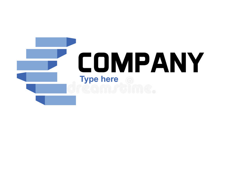Blue stairs logo stock illustration