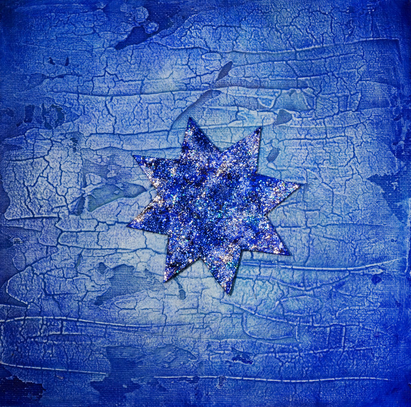 Blue star stock image