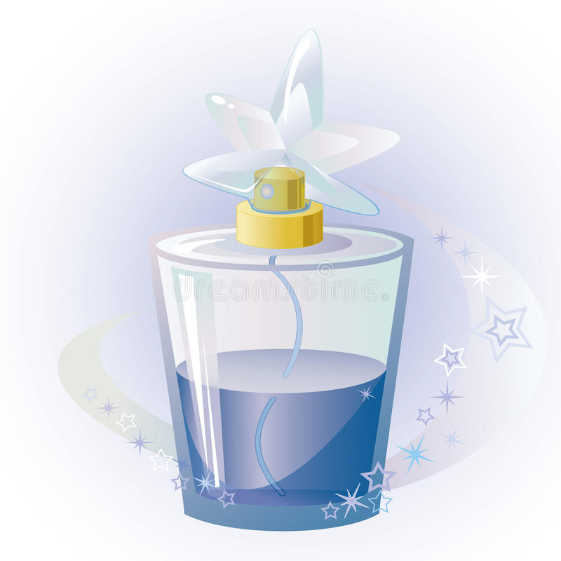 Download Blue star perfume stock vector. Illustration of aroma - 16827007