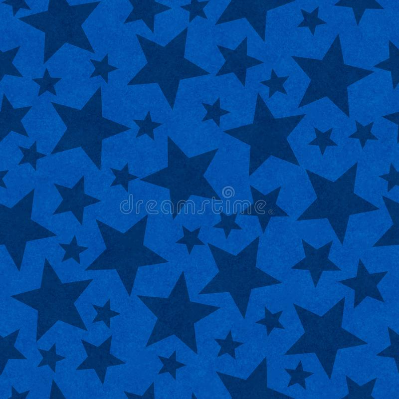Blue star-shape seamless pattern background stock images