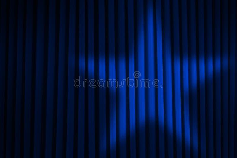 Blue Star Spotlight. Blue Stage Curtain With Star Spotlight royalty free illustration