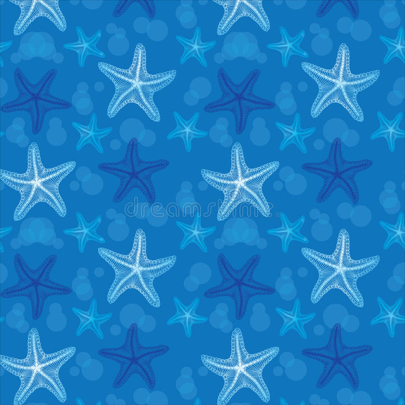 Download Blue Starfish Seamless Pattern Background Stock Vector - Image: 24409789