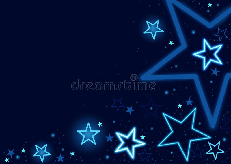 Download Blue Stars Background stock vector. Image of wallpaper - 21282507