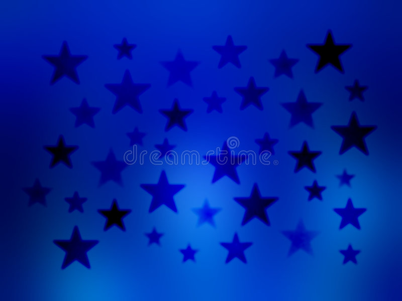 Blue Stars Blur wallpaper background. An illustration of gradient size and color stars on a blue blurred background for use in website wallpaper design