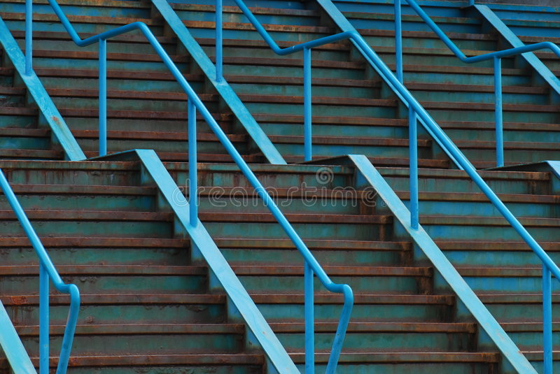 Download Blue Steel Stairs stock photo. Image of rusted, background - 5304828