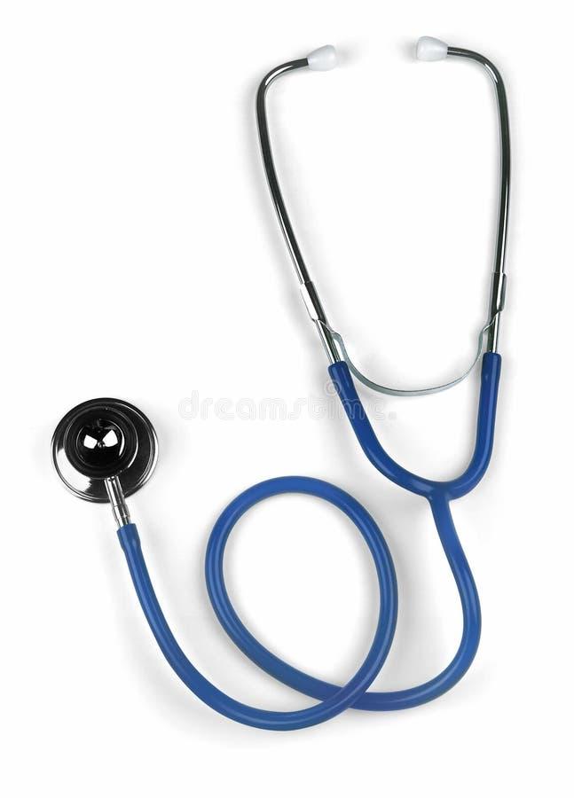 Blue stethoscope stock image
