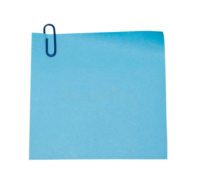 Blue Sticker Stock Image