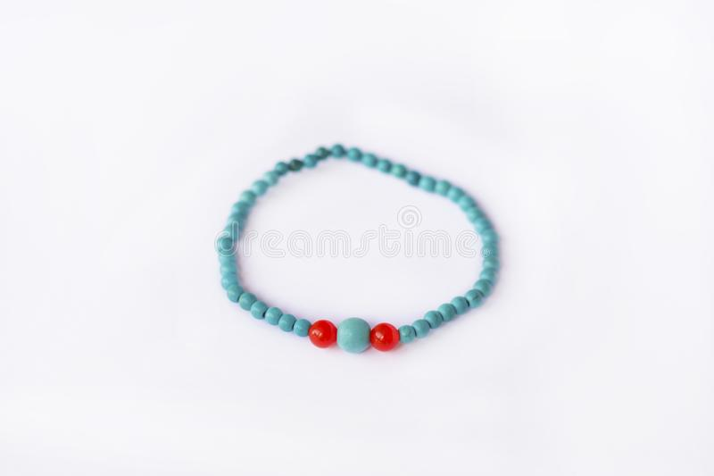 blue stone bracelet stock photography