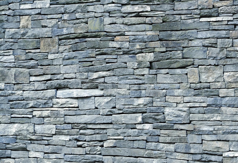 Blue Stone Schist Wall Stock Photo Image Of Rectangular