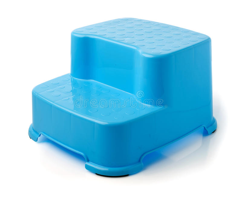Blue Stool Stand for kids on background. Blue Stool Stand for kids on white background royalty free stock images