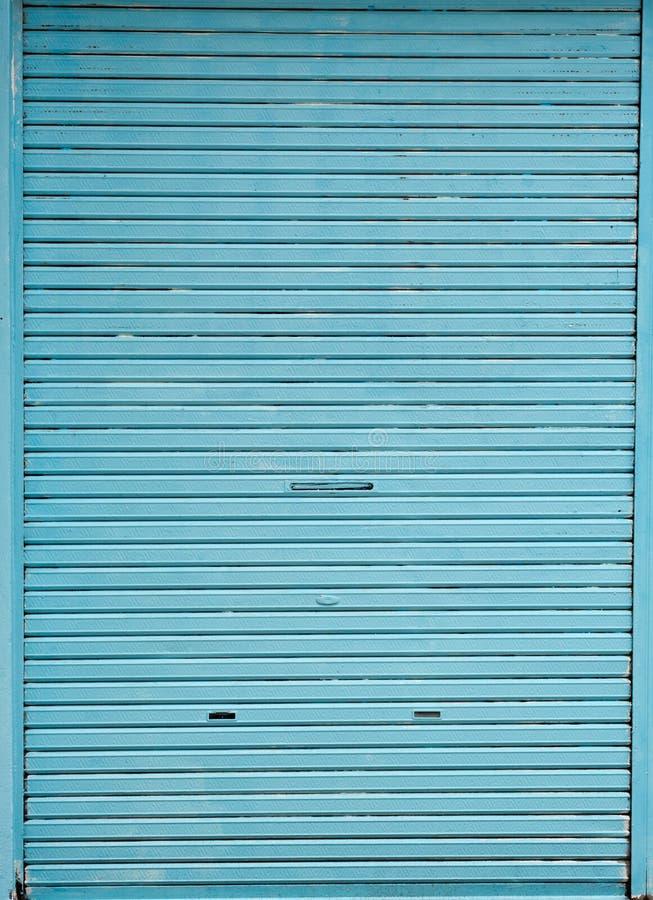 Blue Store Door Stock Photo