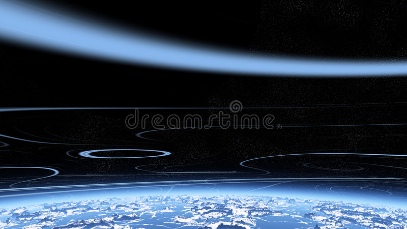 Blue Stratosphere Royalty Free Stock Image
