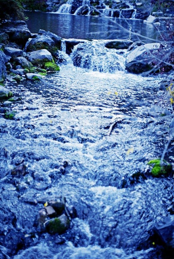 Blue stream stock photography