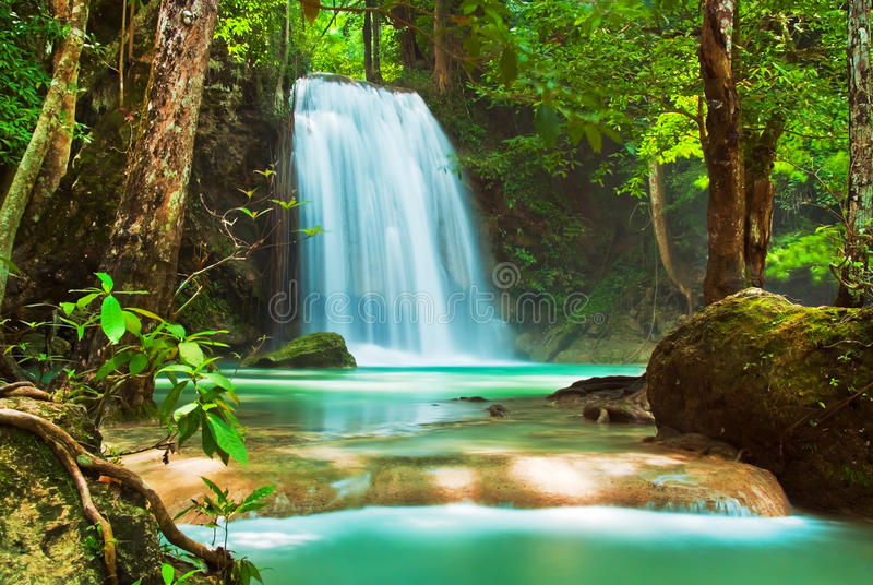 Download Blue stream waterfall stock photo. Image of landscape - 27750318