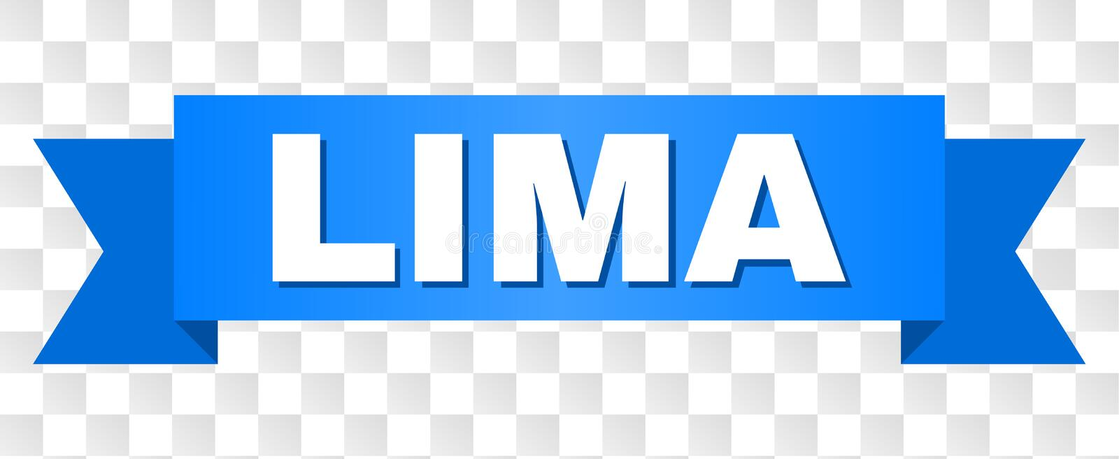 Blue Stripe with LIMA Text royalty free illustration
