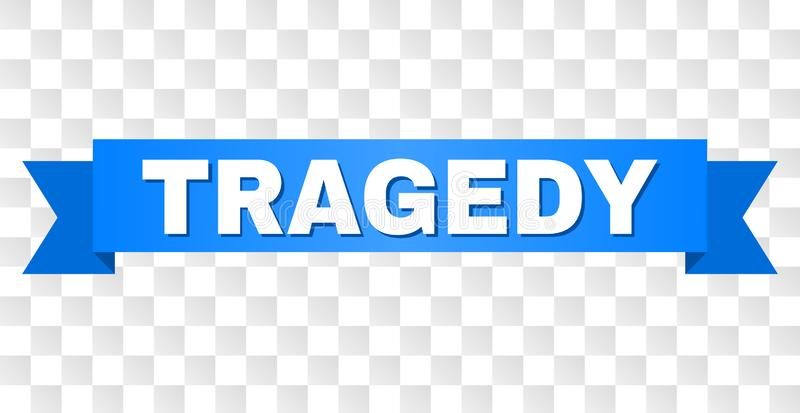 Blue Stripe with TRAGEDY Text stock illustration