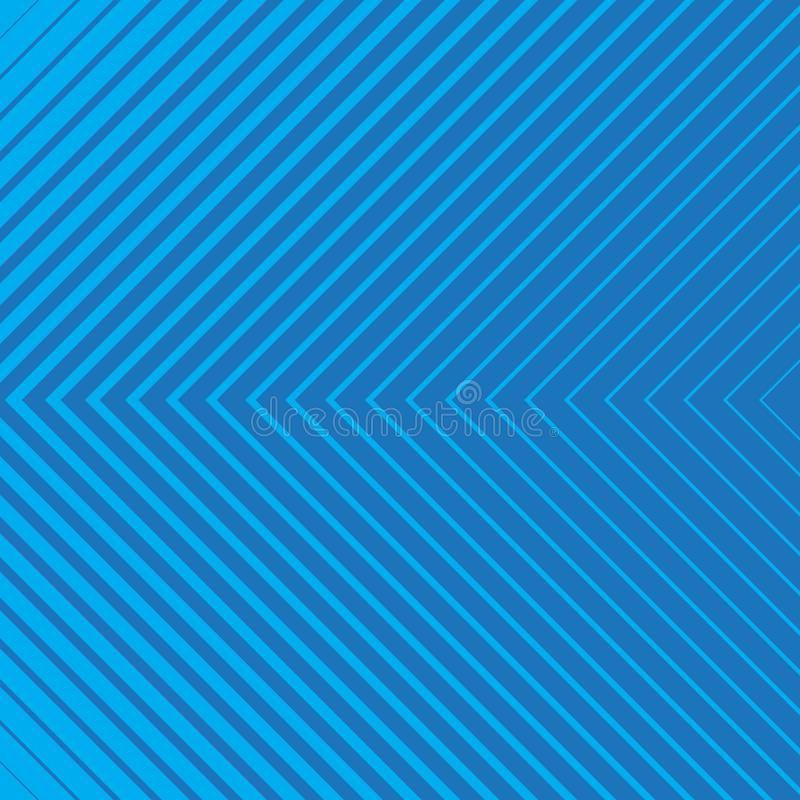 Blue striped geometrical diagonal parallel lines pattern on blue background. Repeat straight stripes texture background stock illustration