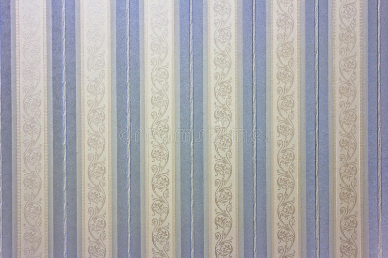 Blue striped wallpaper stock illustration