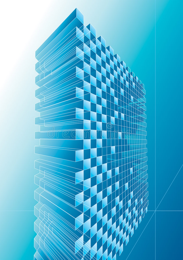 Blue structure abstract vector illustration