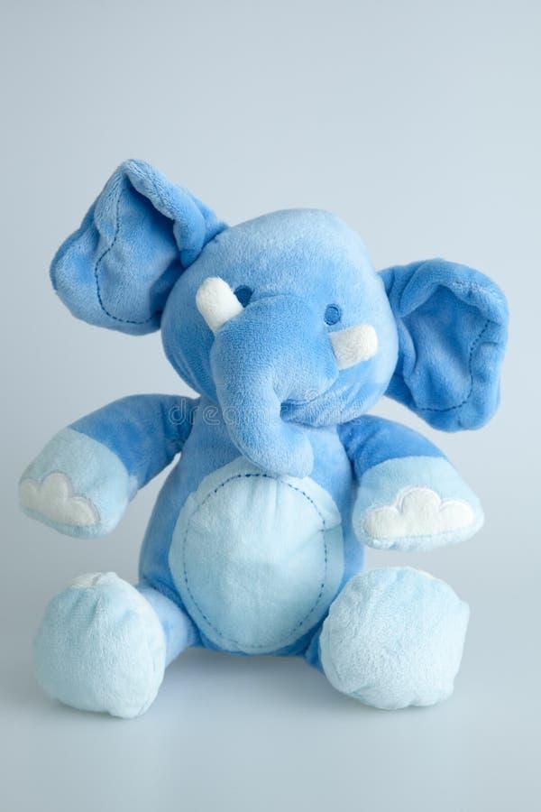 Blue stuffed elephant stock photography