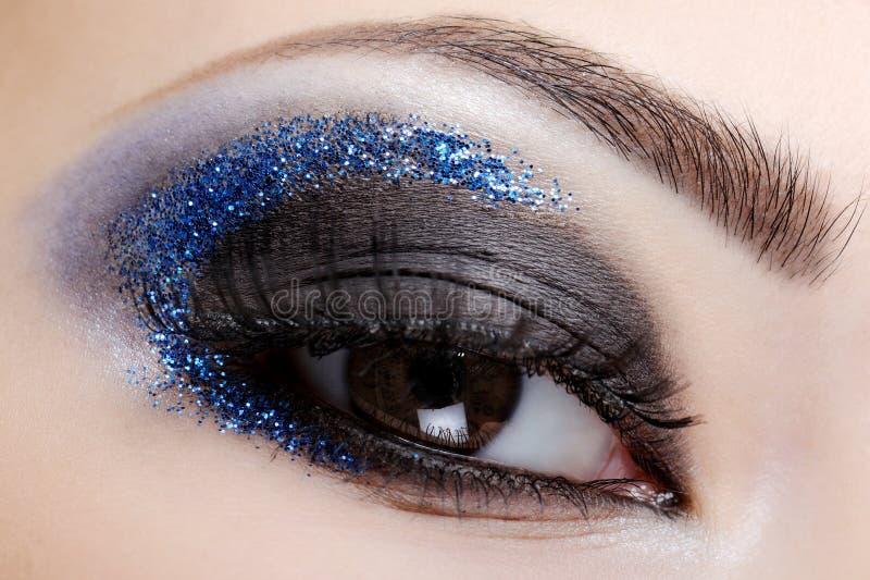 Download Blue style fashion make-up stock photo. Image of make - 8259922
