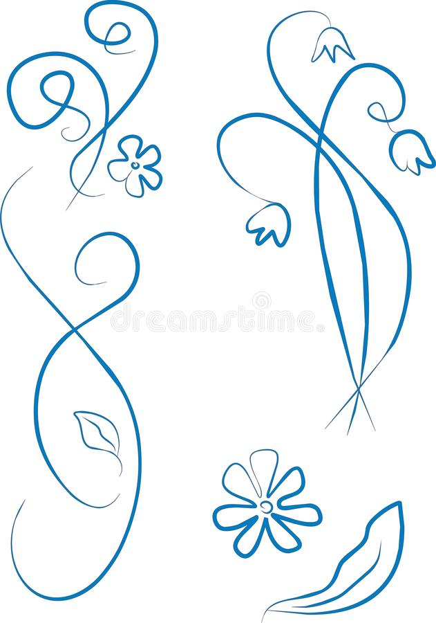 Blue Style Ornament Royalty Free Stock Photography