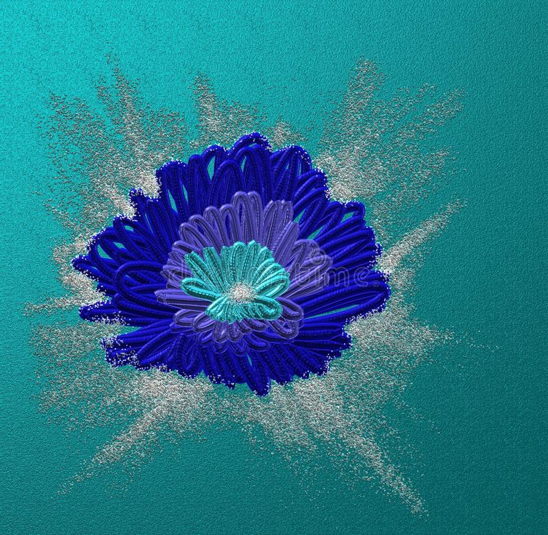 Blue stylized flower royalty free stock images