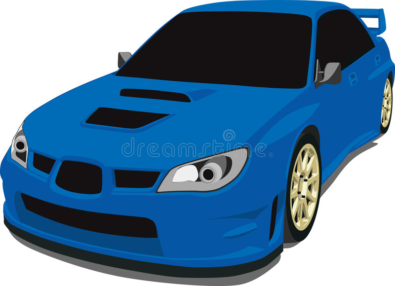 Download Blue Subaru Rally Car stock vector. Image of headlight - 8952879