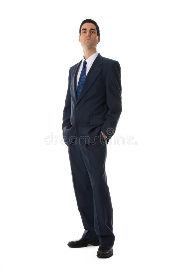 Blue suit man royalty free stock photography