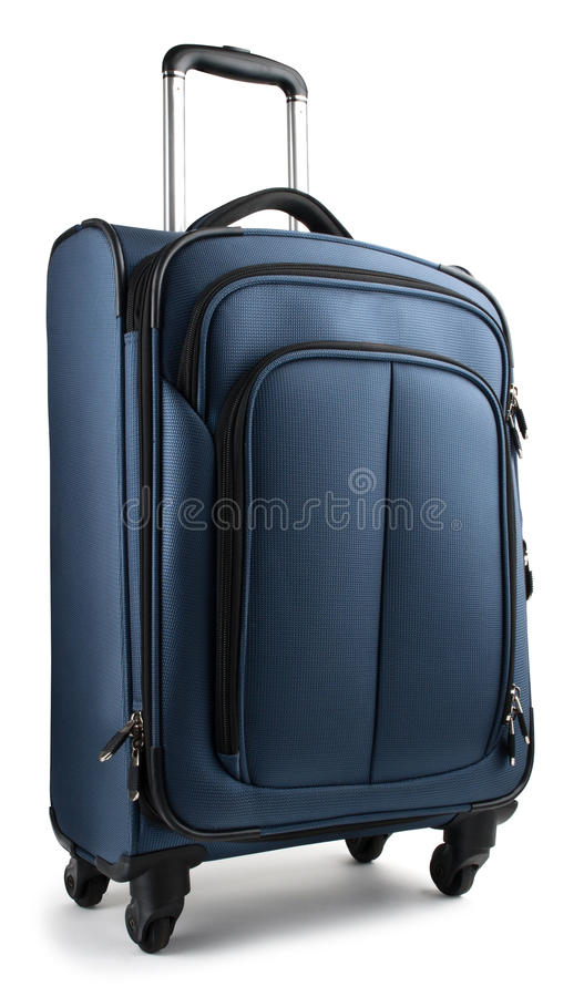 Blue Suitcase royalty free stock photos