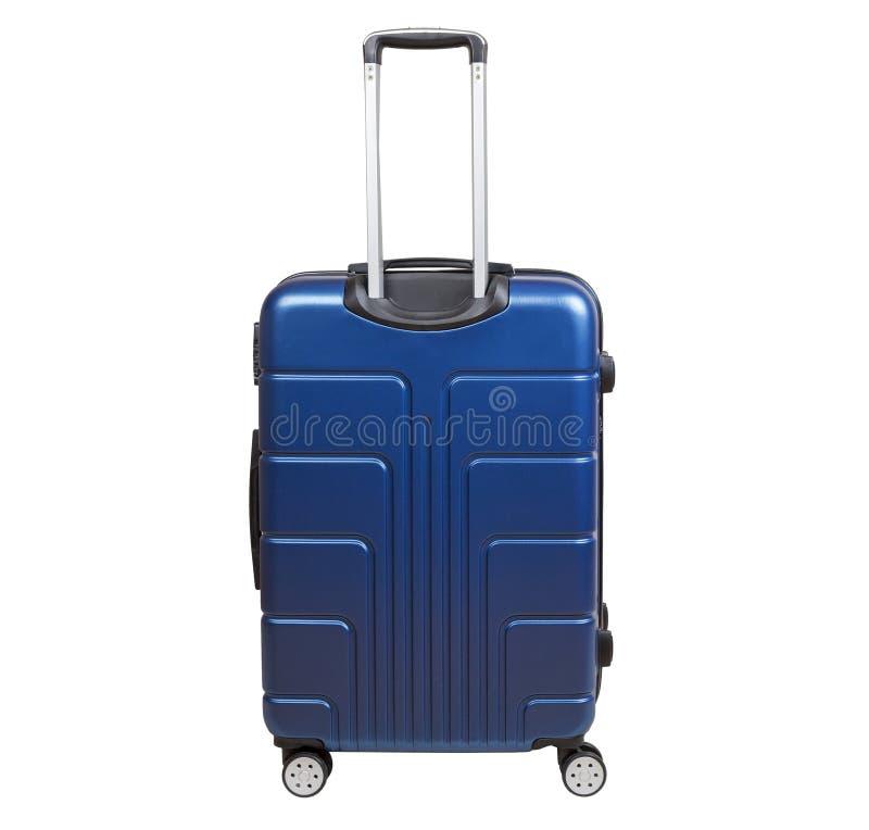 Blue suitcase isolated on white background. stock images