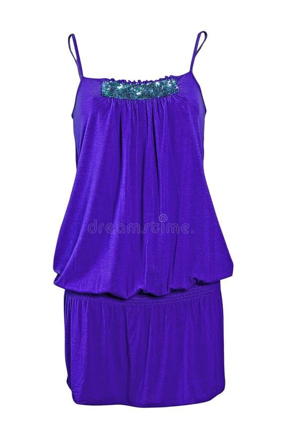 Blue summer dress royalty free stock photos