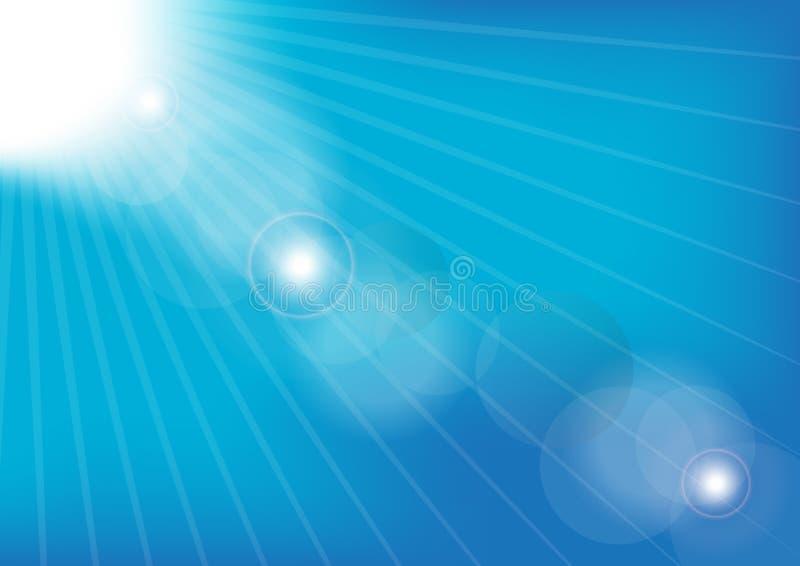 Blue Summer Sky stock illustration