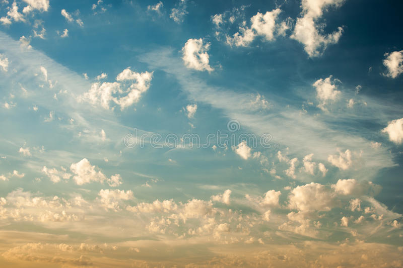 Blue summer sky royalty free stock photography