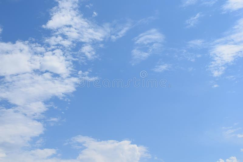 Blue Summer Sky with White Clouds stock images