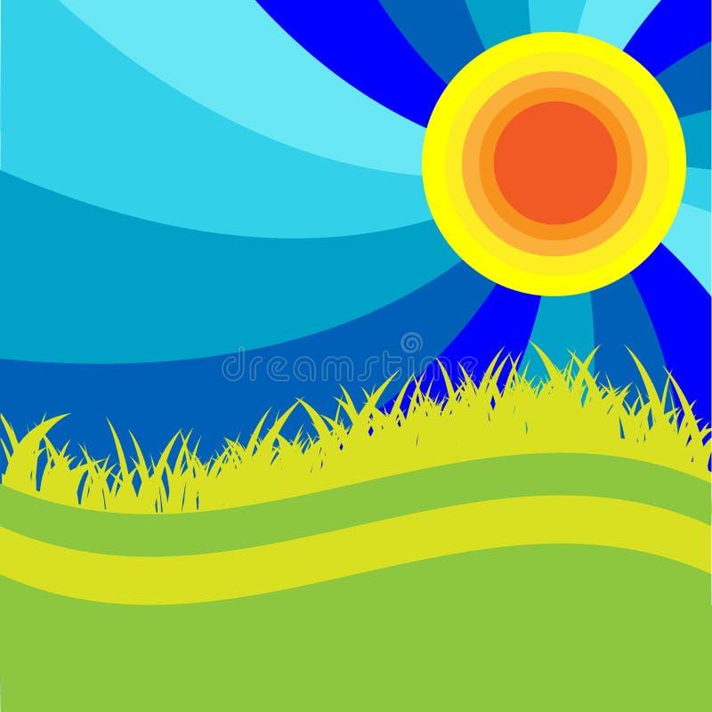 Blue sun stock illustration