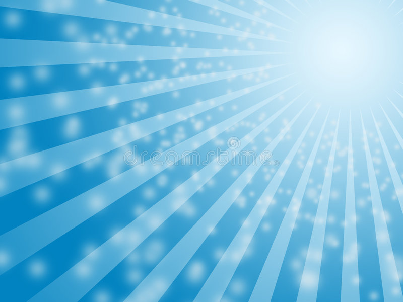 Blue sun bulb background stock illustration