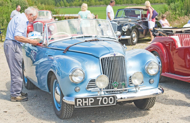 Blue Sunbeam Alpine ; National Rally In Inverness. Editorial Image
