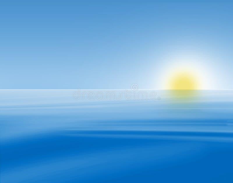 Download Blue sunrise seascape stock illustration. Illustration of landscape - 23642807