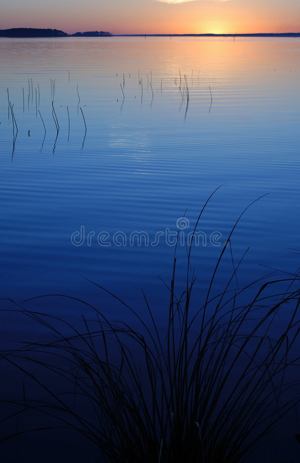 Blue Sunset royalty free stock photography