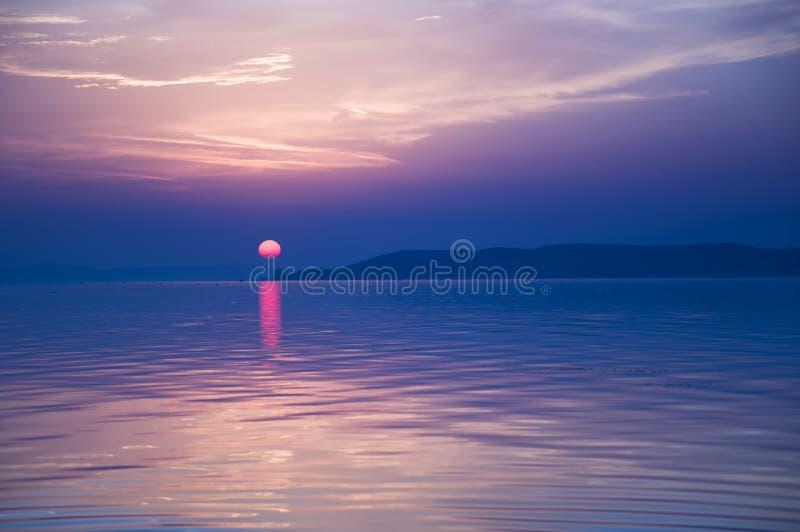 Blue sunset stock photos