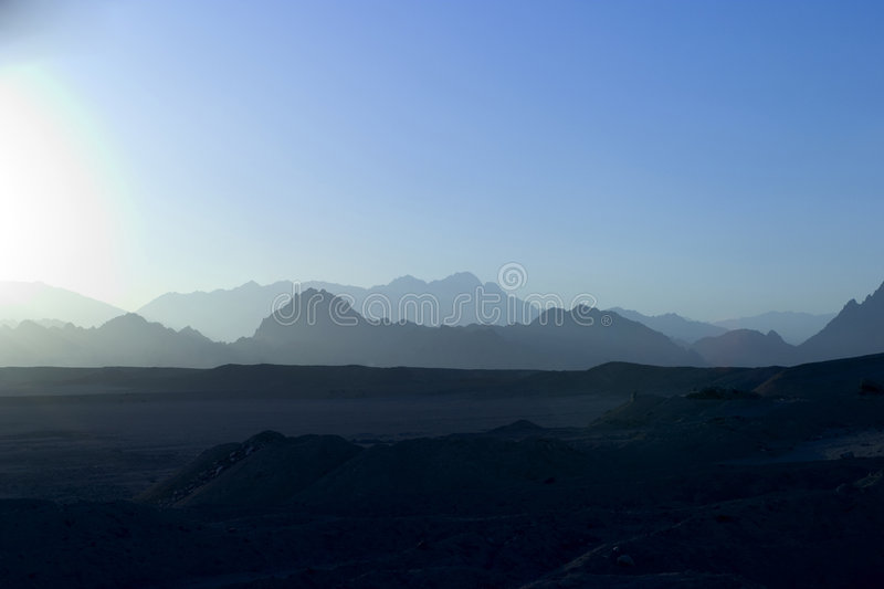 Download Blue sunset Sinai mountain stock photo. Image of blue, color - 87076