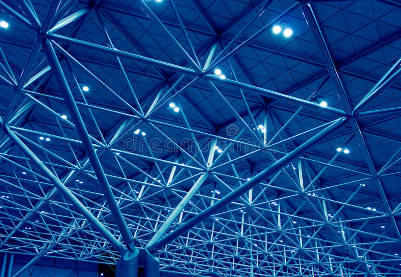 Download Blue support structure stock photo. Image of terminal - 21673328