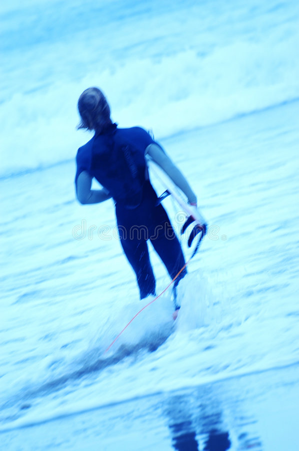 Blue Surfers 4 stock image