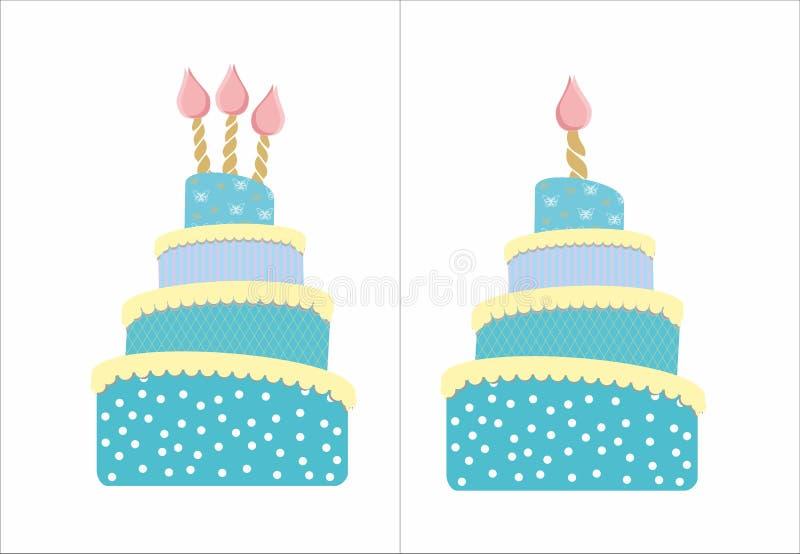 Blue sweety cake for boy stock photos