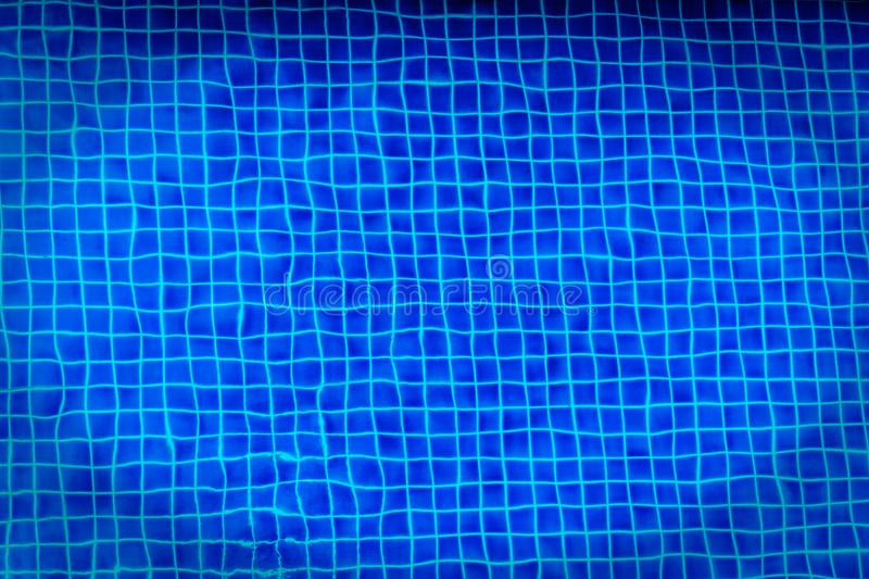 Blue swimming pool for background stock image