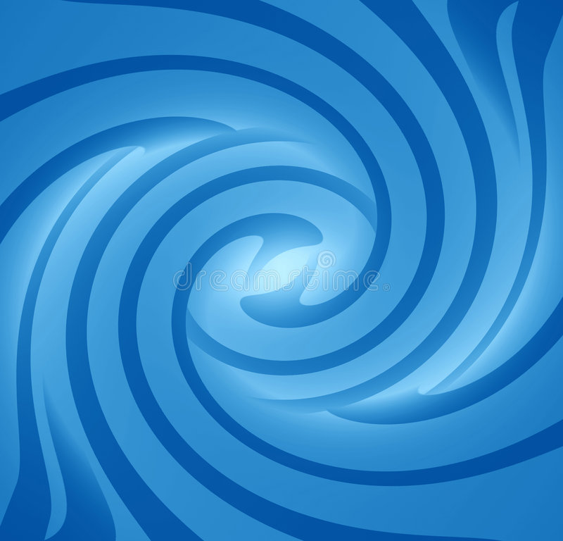 Blue swirl. A bright swirl in different shades of blue stock illustration