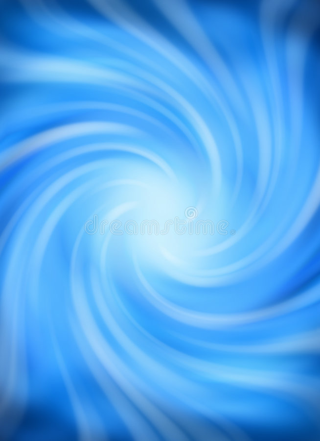 Blue Swirl Spiral Background Royalty Free Stock Image